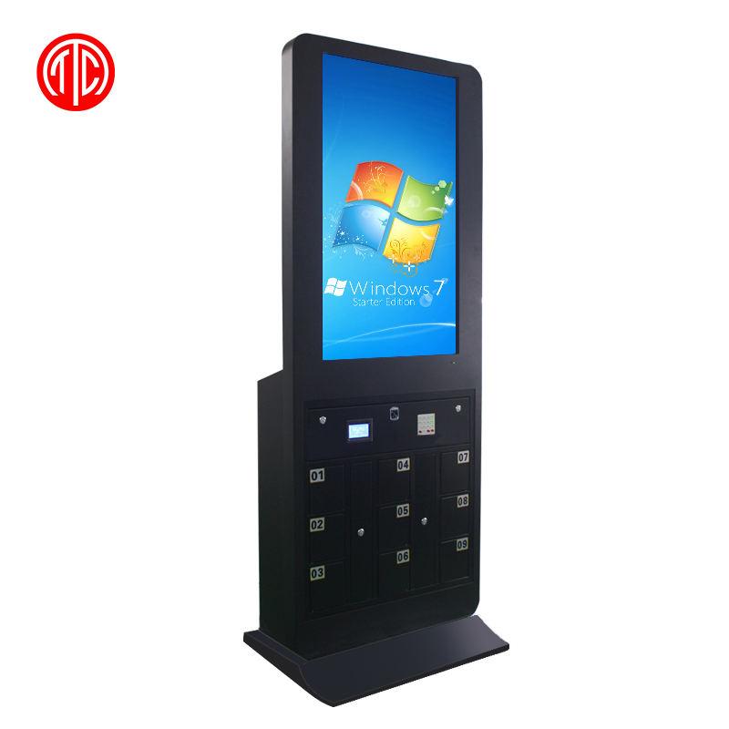 42 ''multimediale da pavimento a cristalli liquidi display digitale signage del telefono mobile stazioni di ricarica chiosco