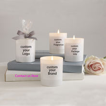 Luxury Scented Glass Candles with Personalized Packing