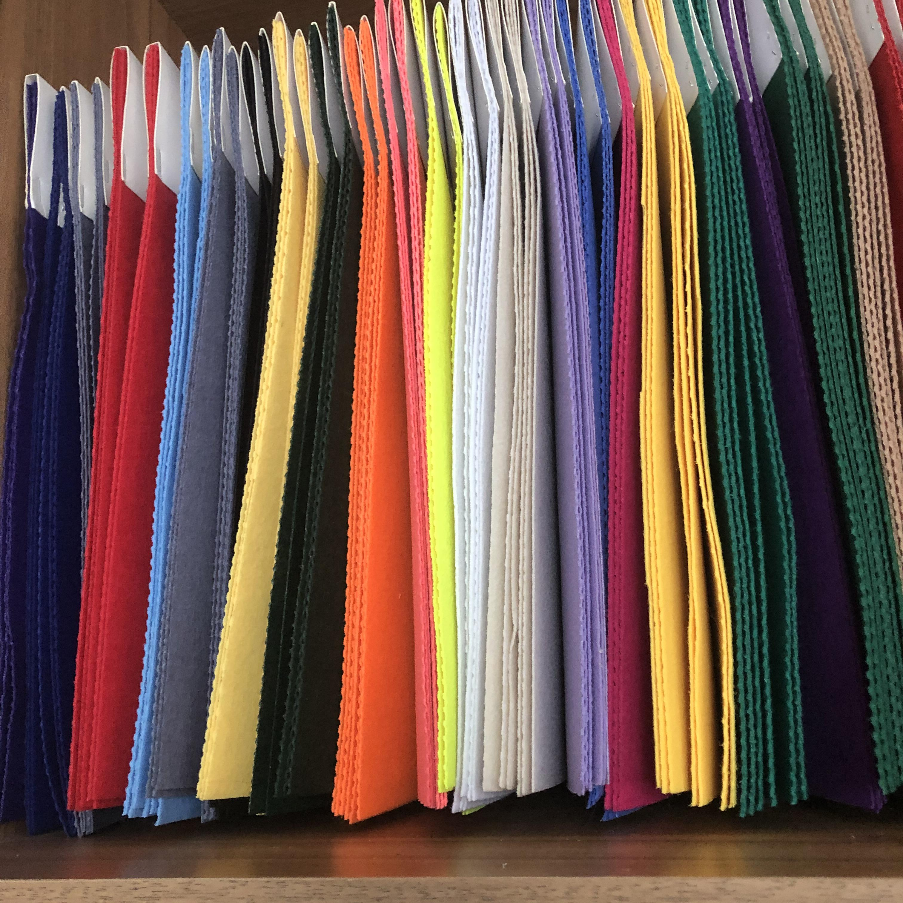 Colorful Nonwoven Diy Craft Polyester Hard Felt Fabric Sheets
