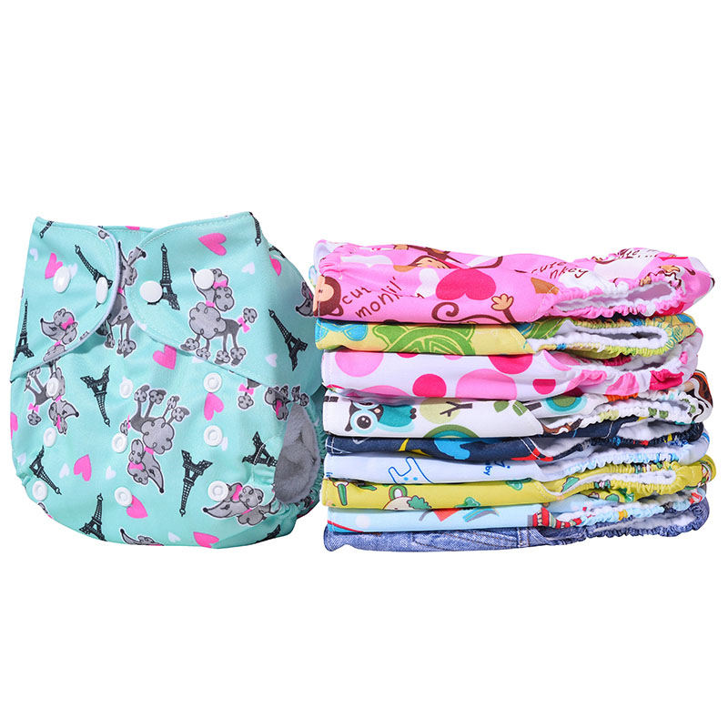 Amazon Hot Sale Reusable Washable Fitted Cloth Diaper Fabric Baby Cloth Diaper With Inserts