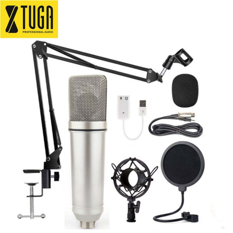 Good Service Recording Internet Broadcast Microphone With Tripod Stand