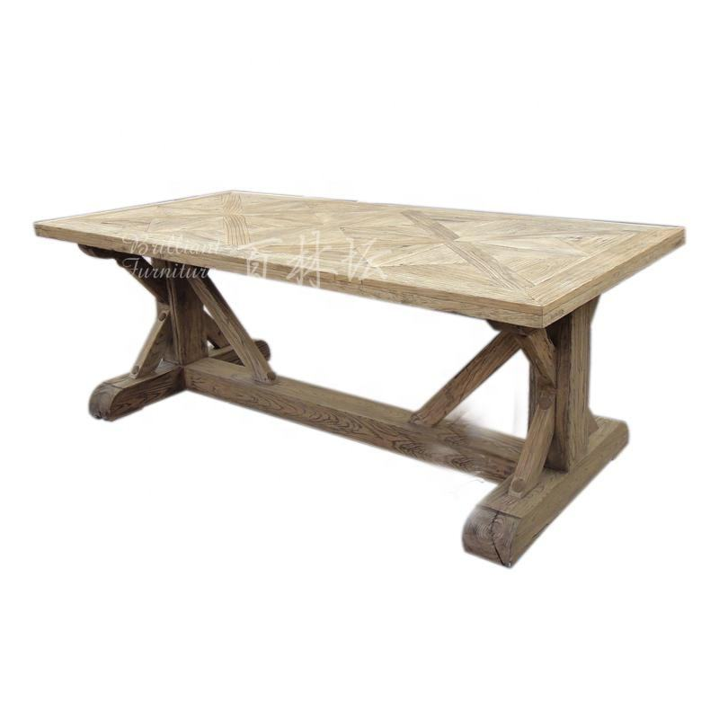 China factory wholesale antique recycled wooden dining room table designs