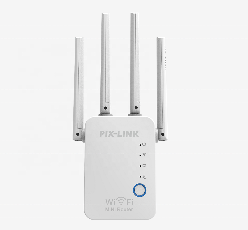 Router Penguat Sinyal Wifi Repeater 300Mbps 802.11 Antena 4 Antena dengan Colokan US /AU/EU/ UK