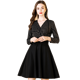 Elegant high quality office dress V-neck Slinky long sleeve winter Women dresses