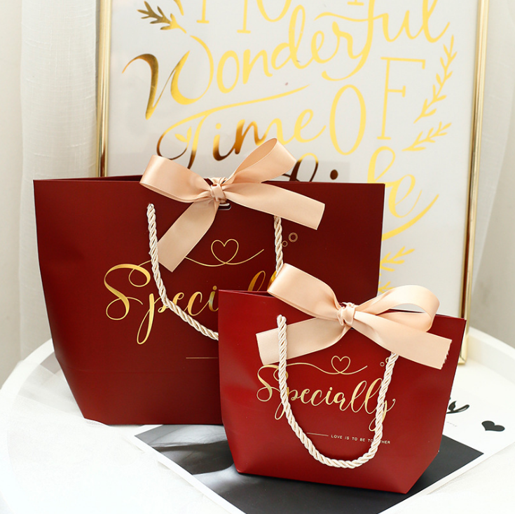 Romantic indian wedding gift bag paper bags