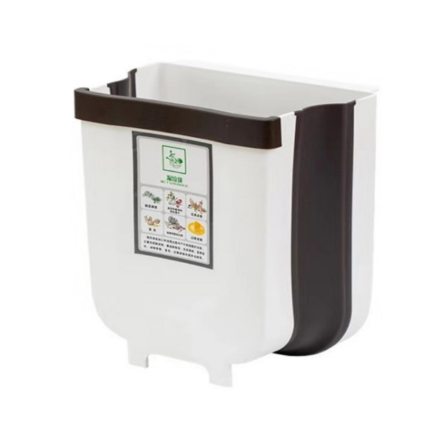 embedded foldable garbage trash bin can kitchen cabine plastic waste bin dustbin