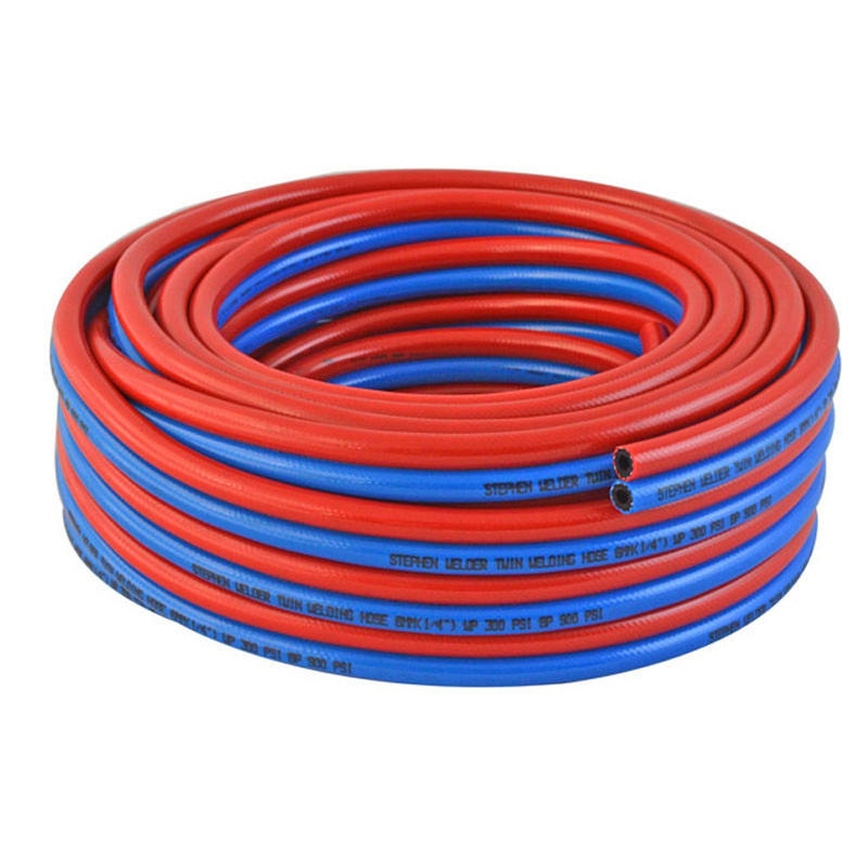 2021 New Twin Line Welding Hose Cutting Rubber Hose with the Highest Temperature Can Reach 70 Degrees Celsius