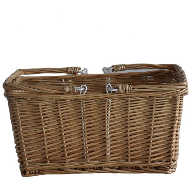 High quality eco-friendly Wicker Gift Fruit Basket with handle