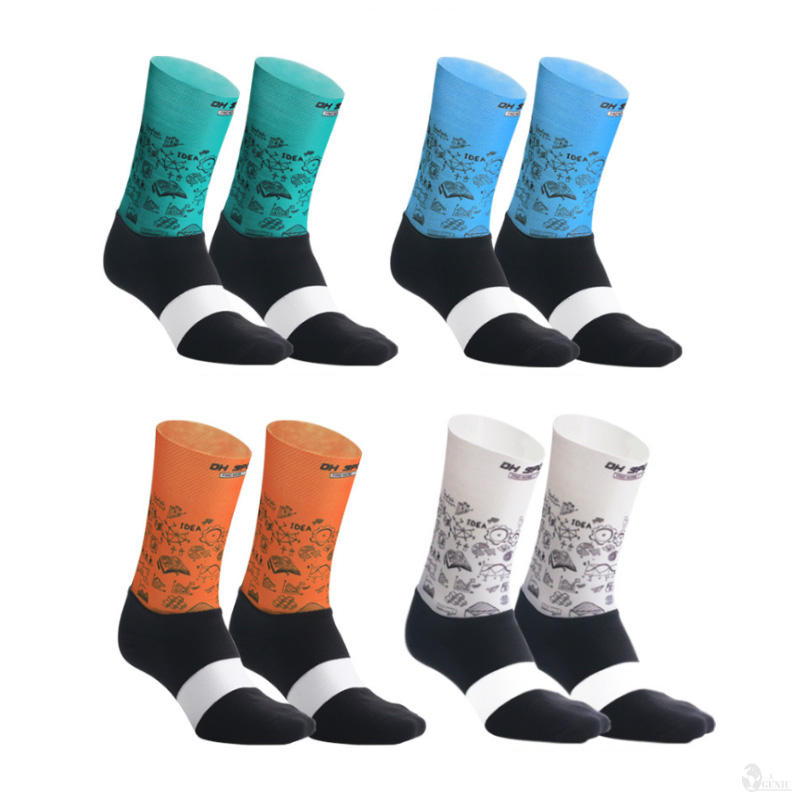 Custom logo OEM Cycling socks bicycle sport competition printed breathable sweat-absorbent sport socks men