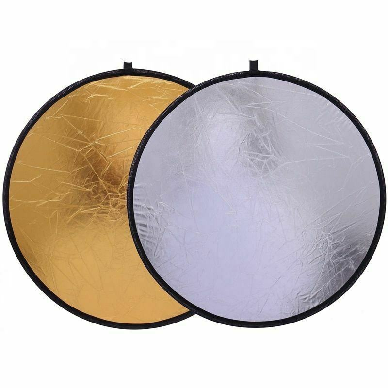 Collapsible Round Light Reflector Photo Studio Disc of Photography 80cm 2 in 1gold silver five different reflect surface LC6110