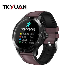 2020 New Arrival Round Smartwatch Blood Pressure Smart Bracelet Body Temperature Measurement Thermometer Watch with Magnet Strap