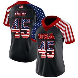 American Flag Style, Trump#45 American Football Jersey for W