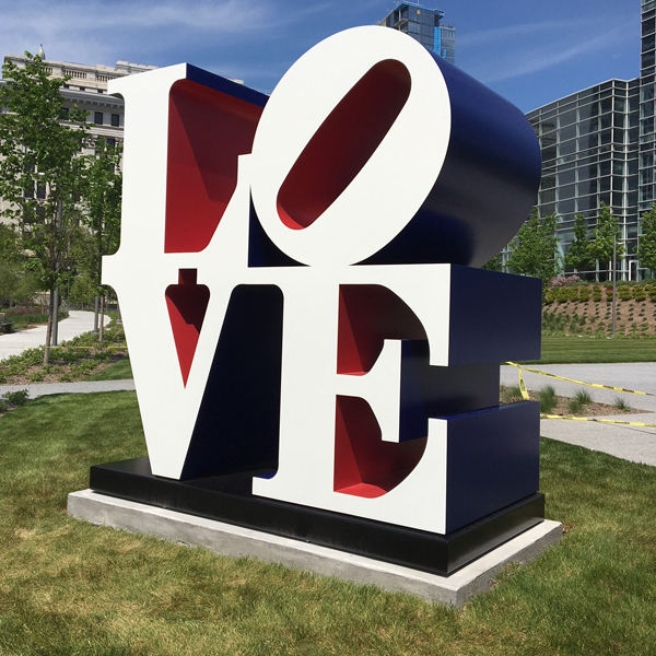 Reproduction artist Outdoor decoration Modern Abstract Robert Indiana's LOVE sculpture