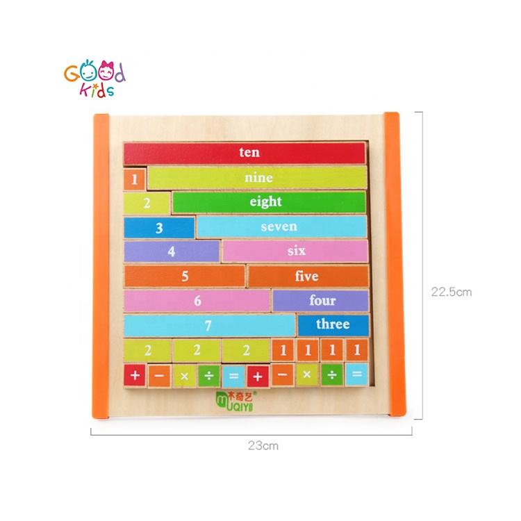 Counting Bars Game Board Kids Early Learning Wooden Educational Toy Teaching Resource Wooden Puzzle