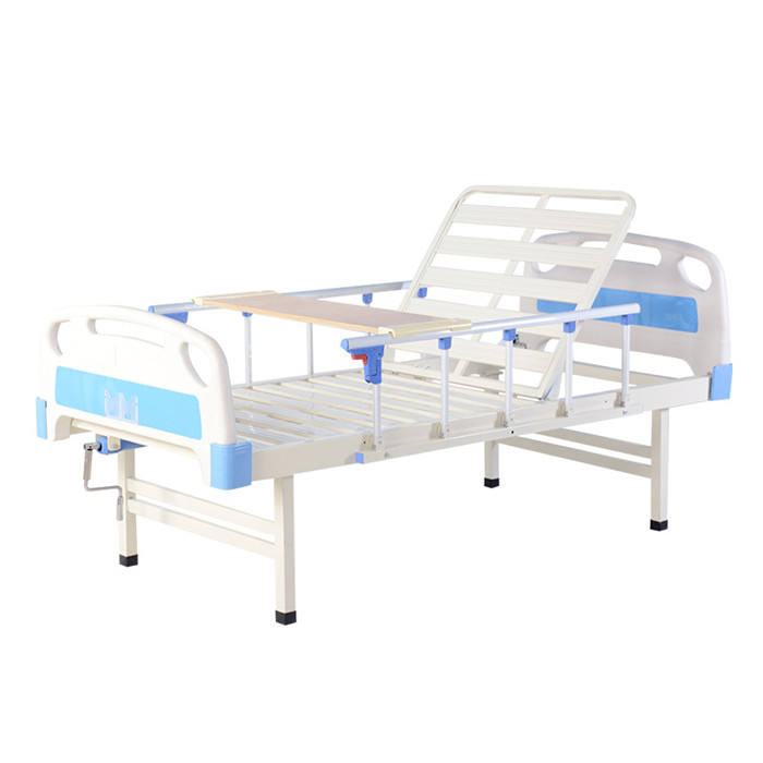 Medical Equipment One Crank Field Manual Prices Hospital Bed Hospital Furniture Epoxy Coating Steel Bed Frame Knock-down GT-H600