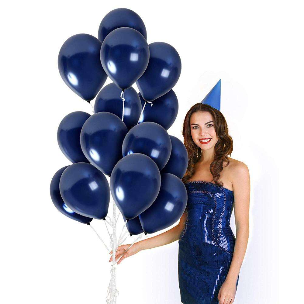 Navy Blue Balloons 12 Inch Latex Balloons For Birthday Party Baby Shower Wedding Decoration