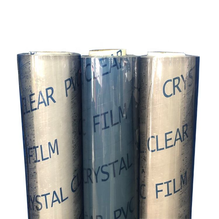 0.4mm Super Clear Transparent Crystal Glossy PVC film For Table cover, Curtain, packaging bag