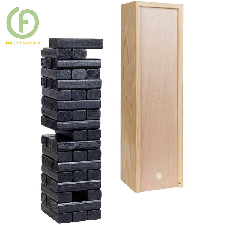 Perfect's Game Jengaing Blokken Tumbling Tower Voor Outdoor Classic Game Met Bruin <span class=keywords><strong>Hout</strong></span> Stain