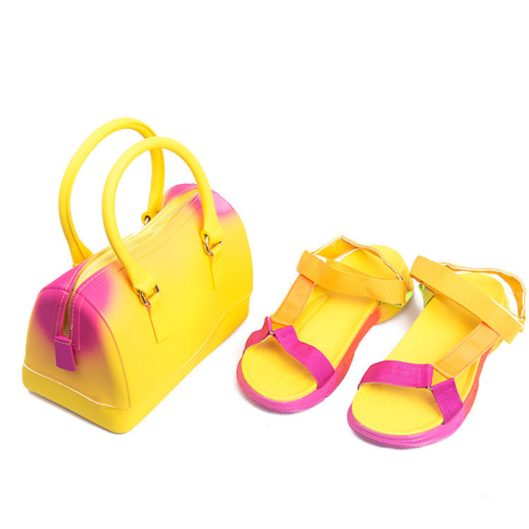 Shoes Bag Sets Party Italian Leather Handbags Match Bags With sandals