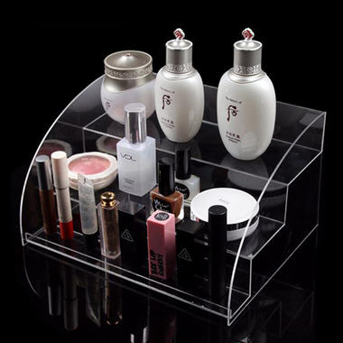 glamdisplay ACRYLIC 3-TIER ARCHED COSMETIC DISPLAY STAND