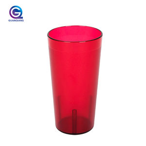 Wholesale stacking water drinking pp custom color plastic tea coffee tumbler in bulk mugs cups reusable cup