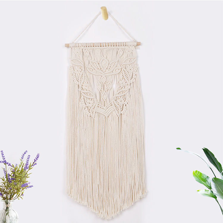Cotton thread ivory white home wall macrame dream catcher wall hanging design