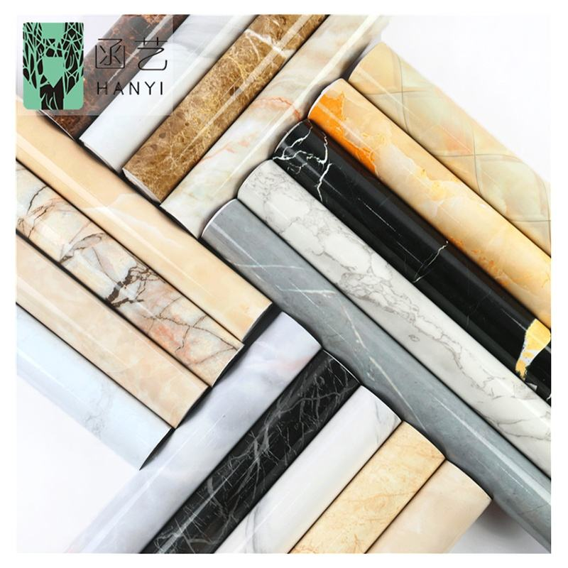 Wholesale vinyl wall paper contact paper waterproof Peel and stick Marble kitchen sticker 3d Wallpaper home decoration adhesive