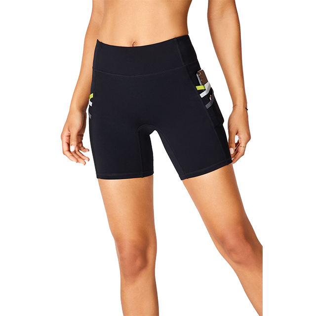 Girls In Short Spandex Hot Sexy Women Running Workout Sport Print Female Yoga Pants Shorts