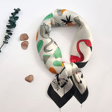 Cosum china square fashion ladies scarf custom printed scarves silk satin scarf