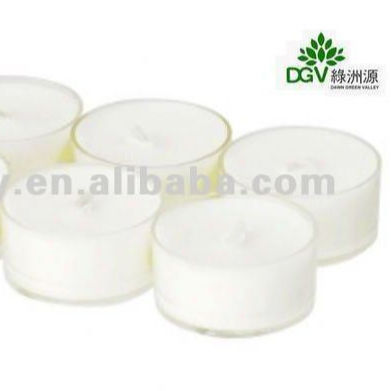 Festival Wedding Birthday Gift Soy Wax Tealight Candle With Plastic Container