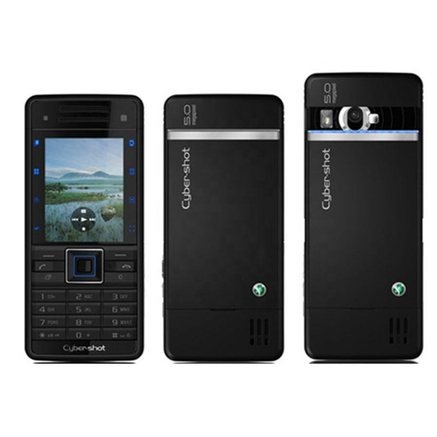 SE C902 GSM Single Core 2.0 Inches 5MP Camera FM Radio Refurbished Cellphone Flip Mobile Phone