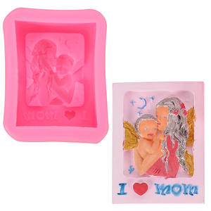 Mother-baby silicone resin molds mother-child shape rectangular soap mold DIY handmade baking mouldings