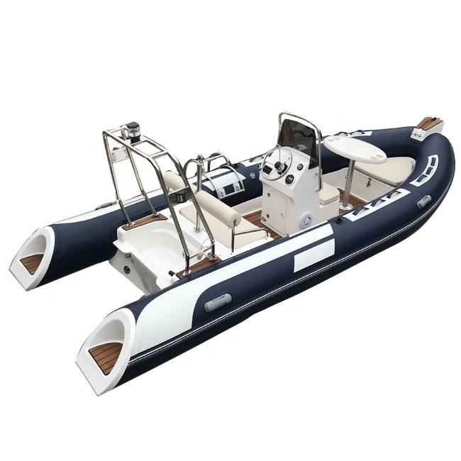 RIB 480 Deep V Hypalon RIB Inflatable Rigid Boat with Outboard Engine