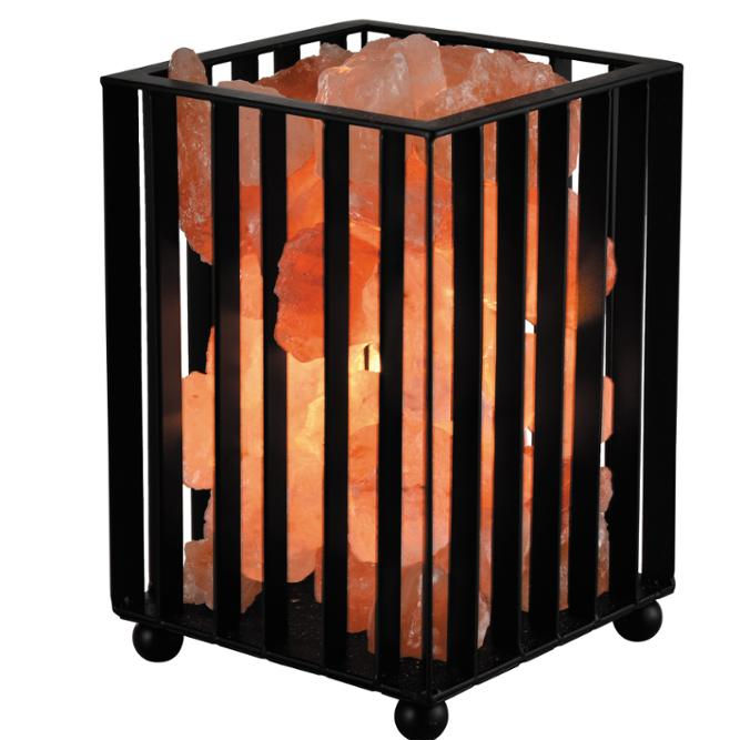 Salt Lamp Himalayan New Design Metal Basket Table Himalayan Salt Lamp Rock Salt American Europe Standard