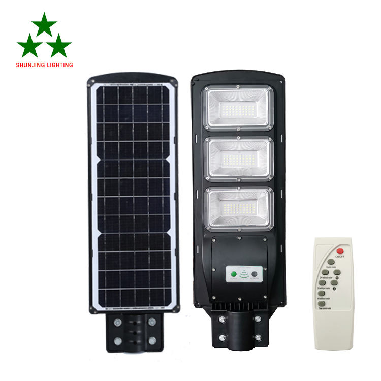 High power outdoor waterproof remote control 60 w integratied all in one solar led street light