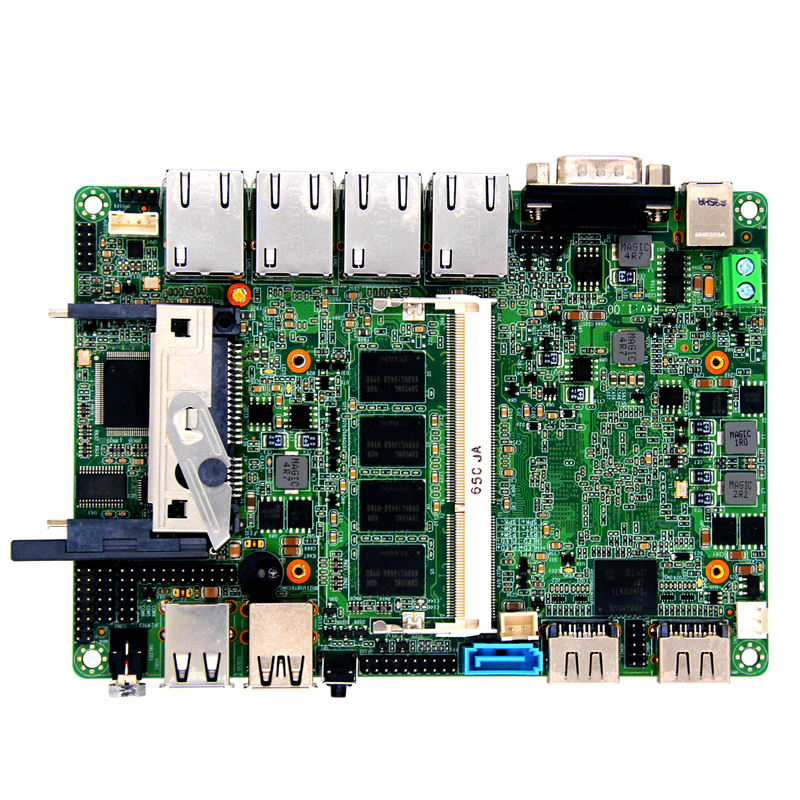 intel bay trail J1900 quad core processor 4 lan motherboard with CF card