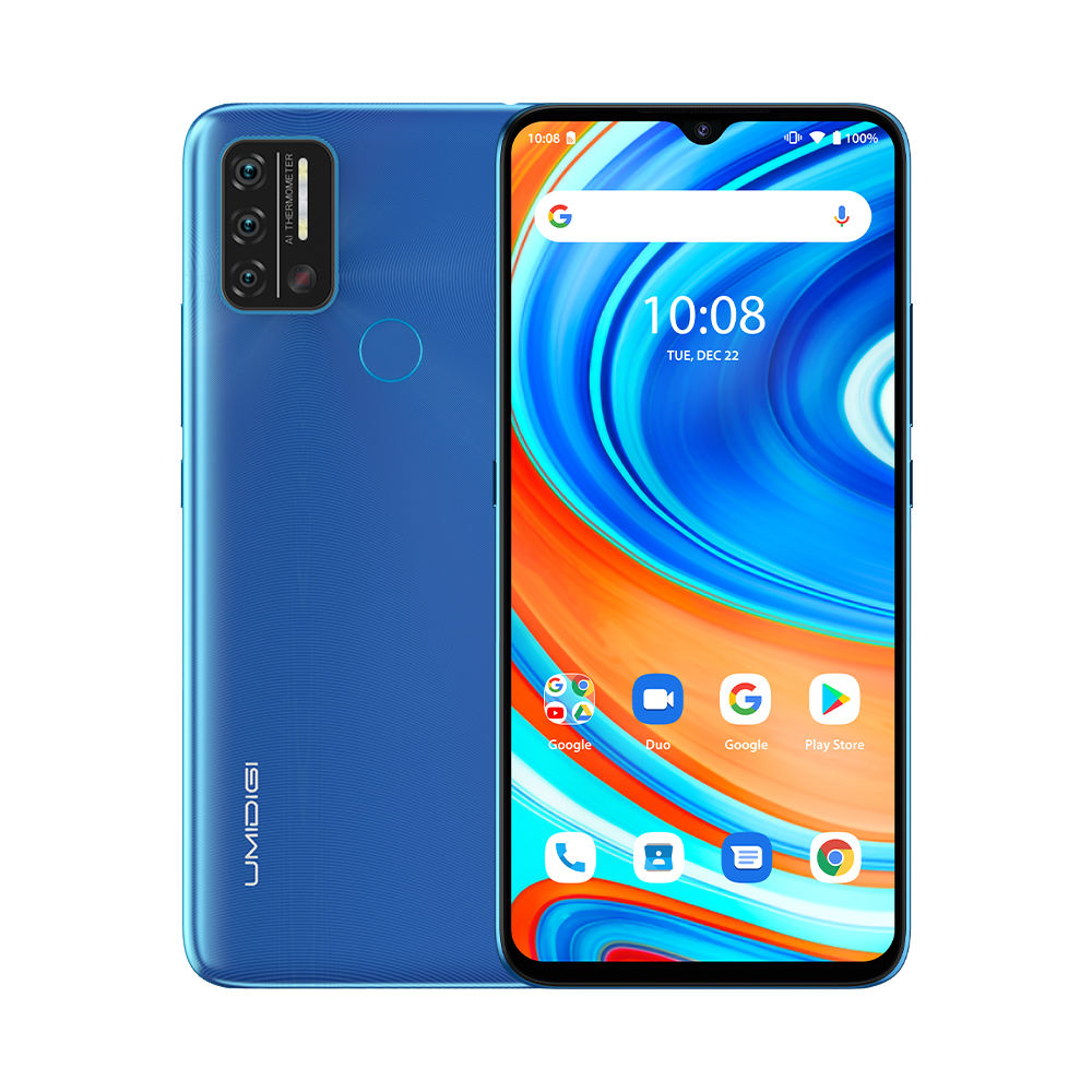 "UMIDIGI A9 Mobile Phone Android 11 Helio G25 6.53 ""HD + 3GB RAM 64GB ROM Cellphone Quad Camera Octa-Core Processor Smartphone 4G"