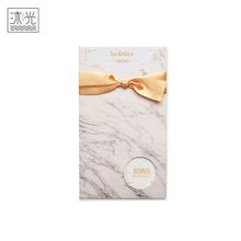 Super September White Marble Printing Literary Wedding Gift Invitation Card