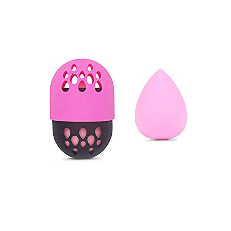 Silicone Makeup Beauty Sponges Foundation Puff Powder Puff Capsule Holder