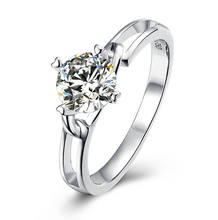 925 Sterling Silver 1ct 6.5mm Moissanite StoneJewelry Moissanite Ring