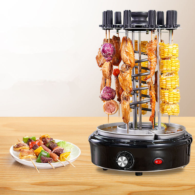 Outdoor/Indoor Barbecue Stainless Electric Automatic Rotating Charcoal bbq grill
