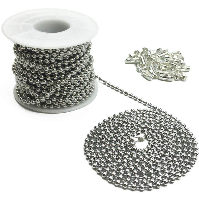4.5* 6mm roller blinds stainless steel ball chain