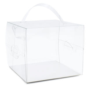 ZL Hot Sale Folding Eco friendly Acetate Clear Cake Candy Chocolate PVC Transparent Box With Handle