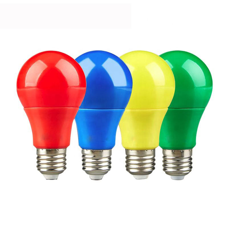 Ningbo factory color led bulb 5W led light e27 e14 b22 light bulb yellow blue red green color led bulb