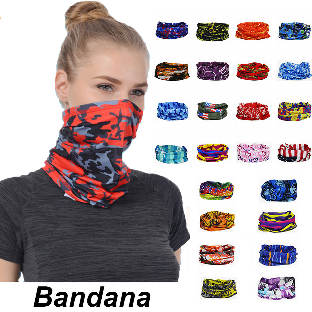 High quantity Various style Face bandanas magic scarf neck gaiter for Dust OutdoorsSports supporting pattern customized