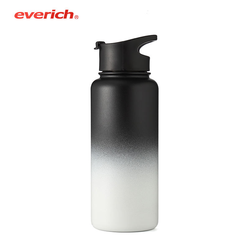 Promotional ss vacuum flask printed free sample sports stainless steel water bottle