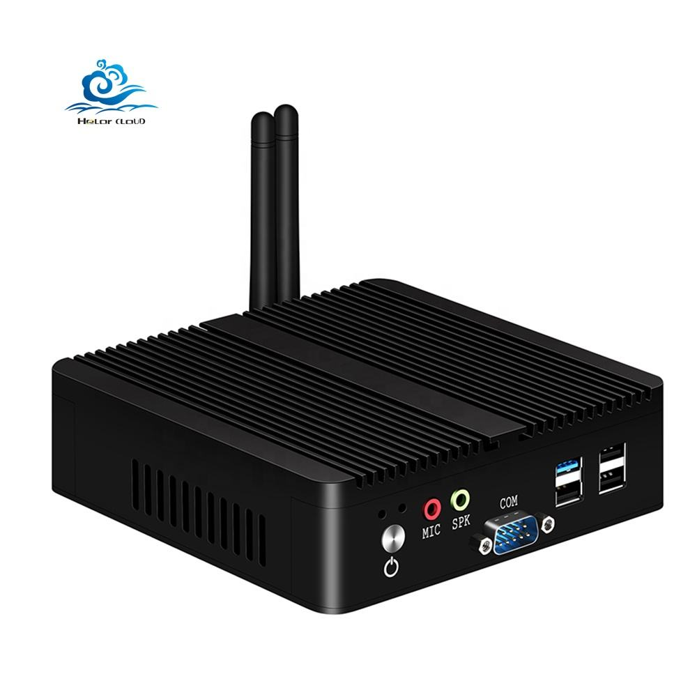 Esperanza Intel Celeron J1900 Industrial Mini PC Quad Core Linux Pfsense 2 Gigabit Ethernet RS232 Micro computador