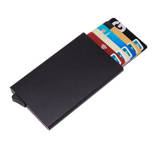 Credit Card Holder RFID Wallet Aluminum Business Card Holder Automatic Pop-up Card Case Wallet