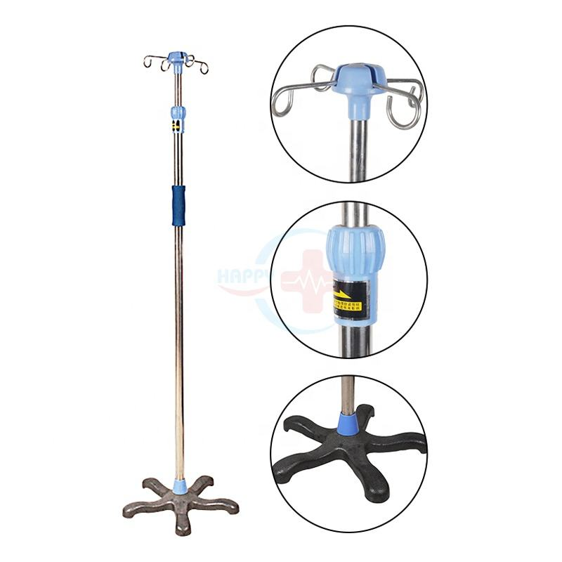 HC-M094 Stainless Stand hospital IV pole medical stand infusion pole