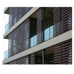 Building exterior wall decoration fixed louver screen aluminum fixed louver